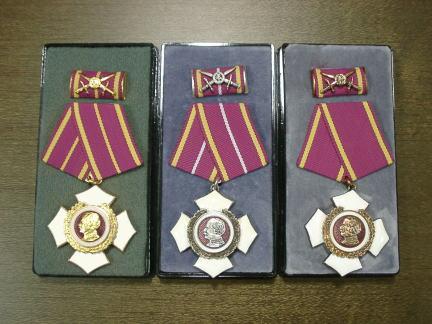 Орден Блюхера «За храбрость» трех степеней – в золоте, в серебре и в бронзе